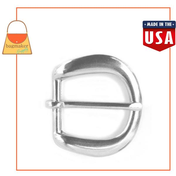 Representative Image of 1 Inch D Buckle, Solid Brass with Nickel Finish (BKS-AA002))