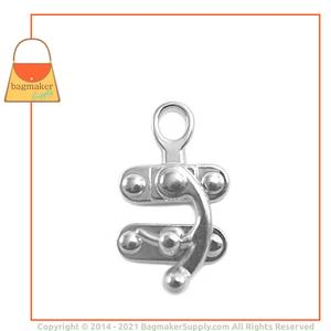 Representative Image of 1 Inch x 2 Inch Catch Clasp, Nickel Finish