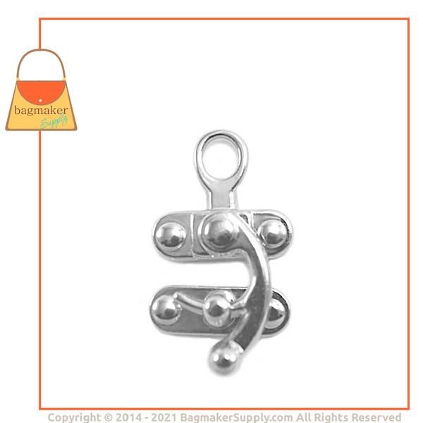 Representative Image of 1 Inch x 2 Inch Catch Clasp, Nickel Finish (CSP-AA001))