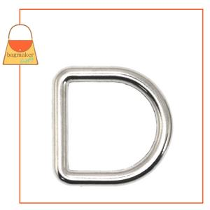 Representative Image of 1/2 Inch Cast D Ring, Nickel Finish