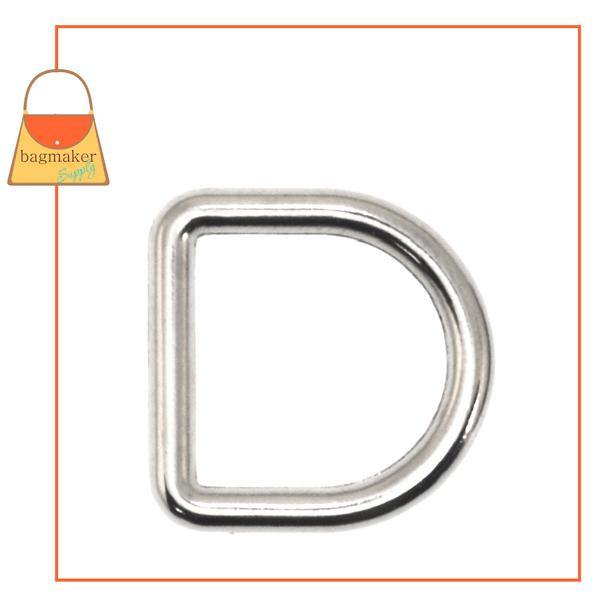 Representative Image of 1/2 Inch Cast D Ring, Nickel Finish (RNG-AA001))