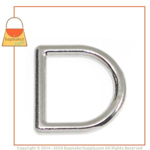 Representative Image of 3/4 Inch Cast D Ring, Nickel Finish