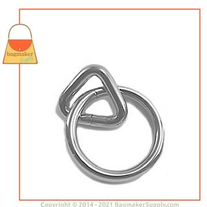 Representative Image of 3/4 Inch Loop with 1-1/4 Inch Ring, Nickel Finish