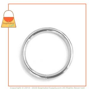 Representative Image of 1-1/2 Inch Wire Formed O Ring, Welded, Nickel Finish