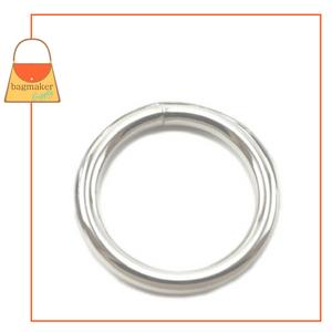 Representative Image of 2 Inch Wire Formed O Ring, Welded, Nickel Finish