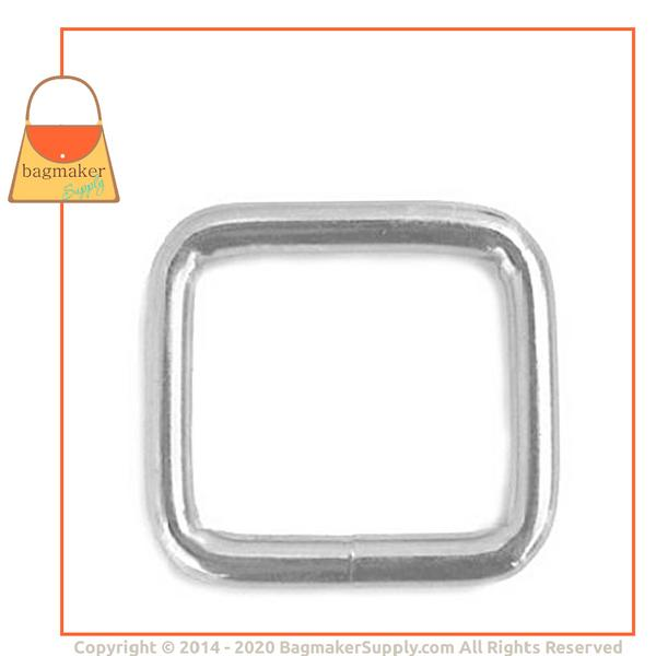 Representative Image of 1-3/16 Inch Wire Formed Square Ring, Nickel Finish (RNG-AA009))