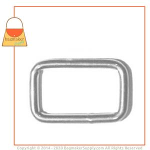 Representative Image of 3/4 Inch Wire Formed Rectangle Ring, Nickel Finish