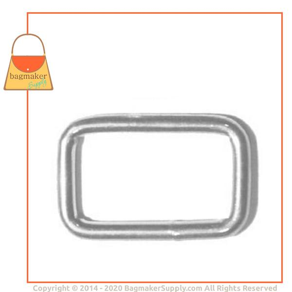 Representative Image of 3/4 Inch Wire Formed Rectangle Ring, Nickel Finish (RNG-AA016))