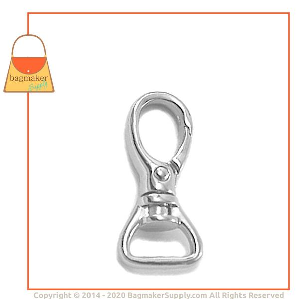 Representative Image of 5/8 Inch Rounded Lobster Claw Swivel Snap Hook, Nickel Finish (SNP-AA001))