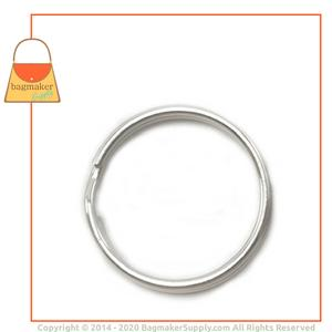Representative Image of 1 Inch Split Ring Key Ring, Nickel Finish