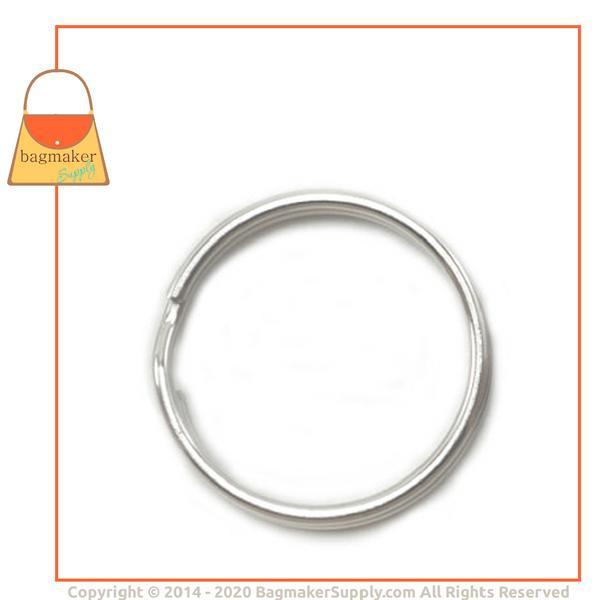 Representative Image of 1 Inch Split Key Ring, Steel, Nickel Finish (KRA-AA034))
