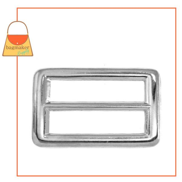 Representative Image of 1 Inch Rectangular Center Bar Slide, Nickel Finish (SLD-AA007))