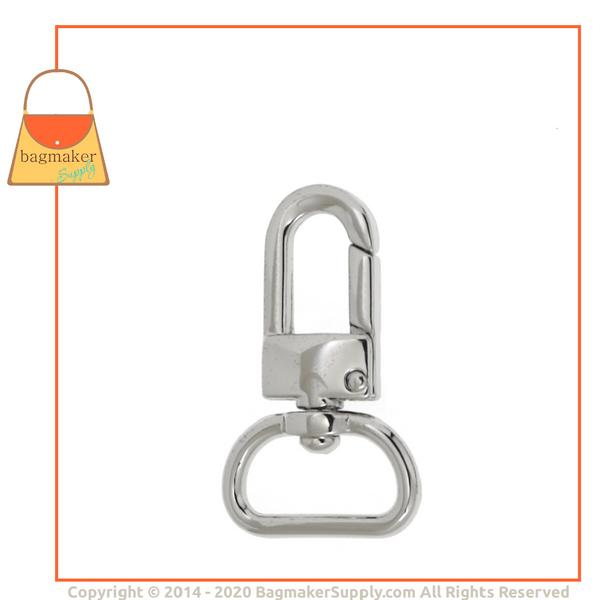 Representative Image of 3/4 Inch Lobster Claw Swivel Snap Hook, Nickel Finish (SNP-AA002))