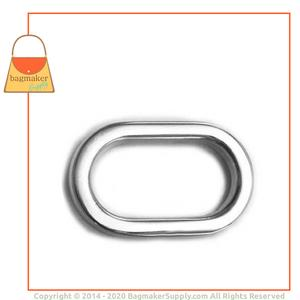 Representative Image of 3/4 Inch Flat Cast Oval Ring, Nickel Finish