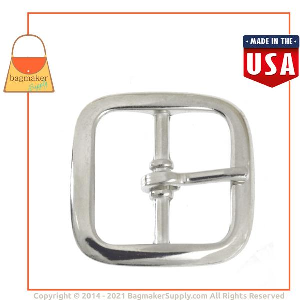 Representative Image of 1 Inch Square Buckle, Nickel Finish (BKL-AA011))
