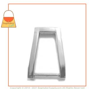 Representative Image of 5/8 Inch Inverted Rectangle Strap Ring, Nickel Finish