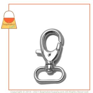 Representative Image of 1 Inch Lobster Claw Swivel Snap Hook, Nickel Finish