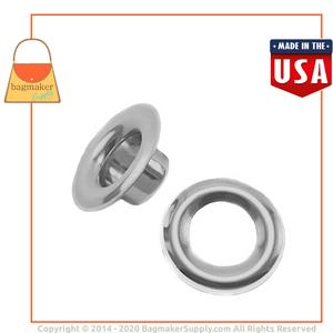 Representative Image of 1/2 Inch Size 4 Grommet, Nickel Finish