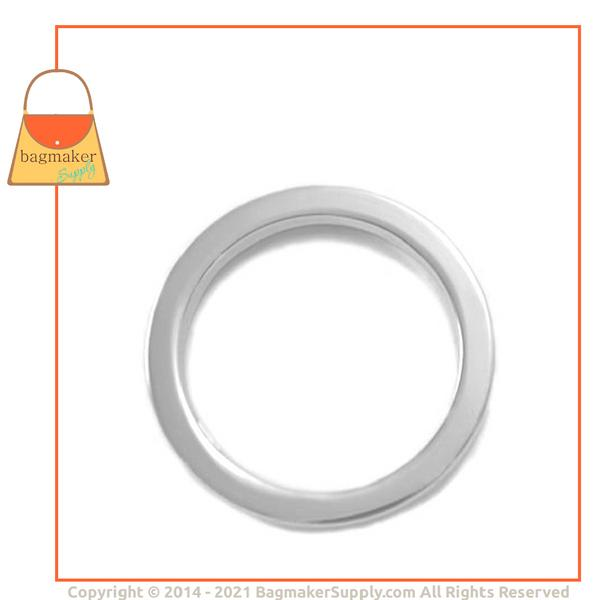 Representative Image of 1-1/2 Inch Flat Cast O Ring, Nickel Finish (RNG-AA027))