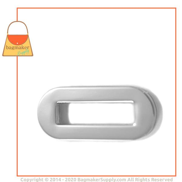 Representative Image of 1 Inch Screw Back Oval Eyelet, Nickel Finish (EGR-AA008))