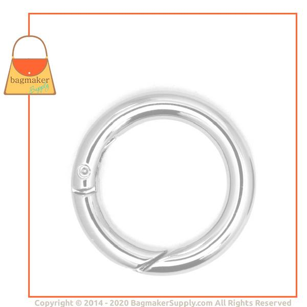 Representative Image of 1 Inch Spring Gate Ring, Nickel Finish (RNG-AA028))
