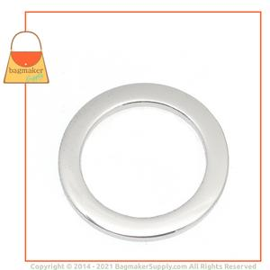Representative Image of 1 Inch Flat Cast O Ring, Nickel Finish