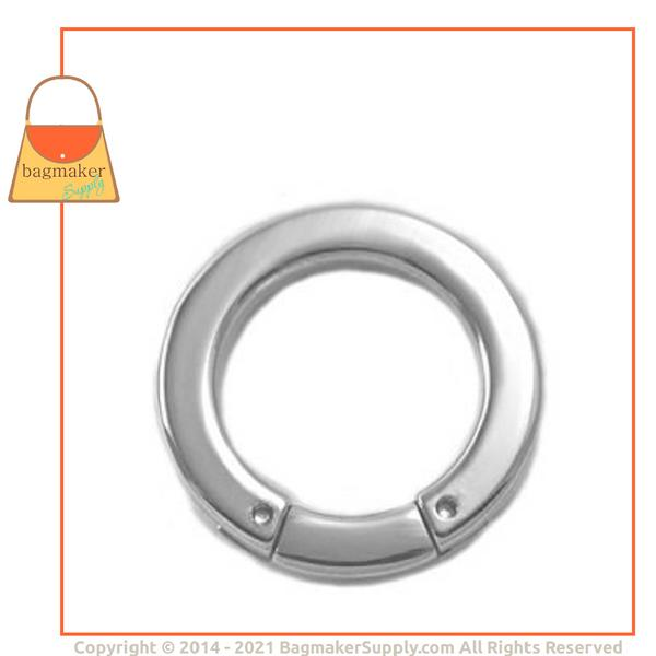 Representative Image of 1 Inch Flat Cast Screw Gate Ring, Nickel Finish (RNG-AA031))
