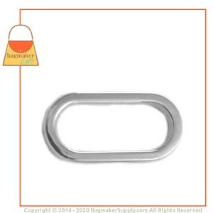 Representative Image of 1 Inch Flat Cast Oval Ring, Nickel Finish