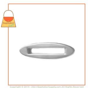Representative Image of 1-1/2 Inch Screw Back Oval Eyelet, Nickel Finish