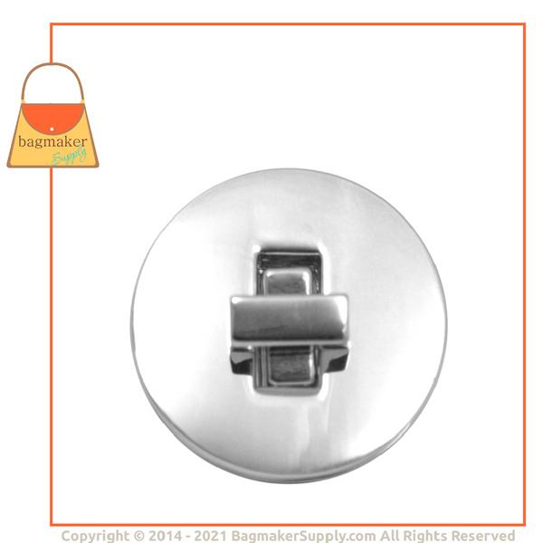 Representative Image of 1-5/16 Inch Round Turn Lock / Twist Lock, Nickel Finish (CSP-AA005))