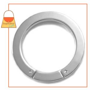 Representative Image of 1-3/8 Inch Flat Cast Screw Gate Ring, Nickel Finish