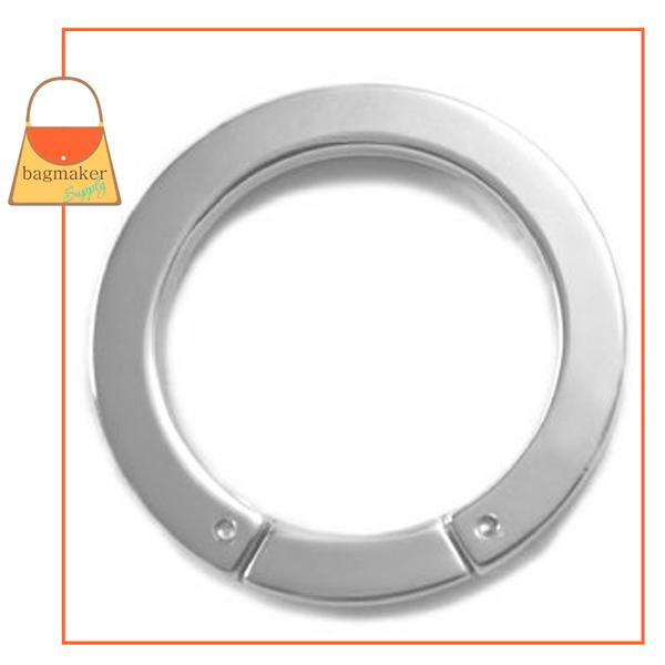 Representative Image of 1-3/8 Inch Flat Cast Screw Gate Ring, Nickel Finish (RNG-AA033))