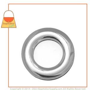 Representative Image of 7/8 Inch Round Screw-Back Eyelet, Nickel Finish