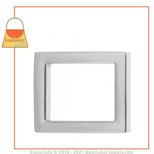 Representative Image of 15/16 Inch Flat Cast Rectangle Ring, Nickel Finish