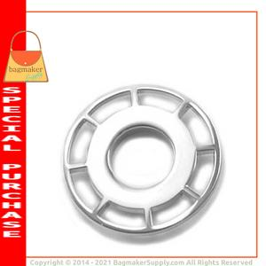 Representative Image of 11/16 Inch Round Spoked Snap Together Eyelet, Nickel Finish