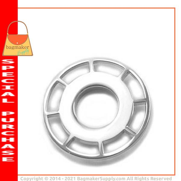 Representative Image of 11/16 Inch Round Spoked Snap Together Eyelet, Nickel Finish (EGR-AA011))