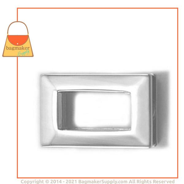 Representative Image of 3/4 Inch Rectangular Screw Back Eyelet, Nickel Finish (EGR-AA012))