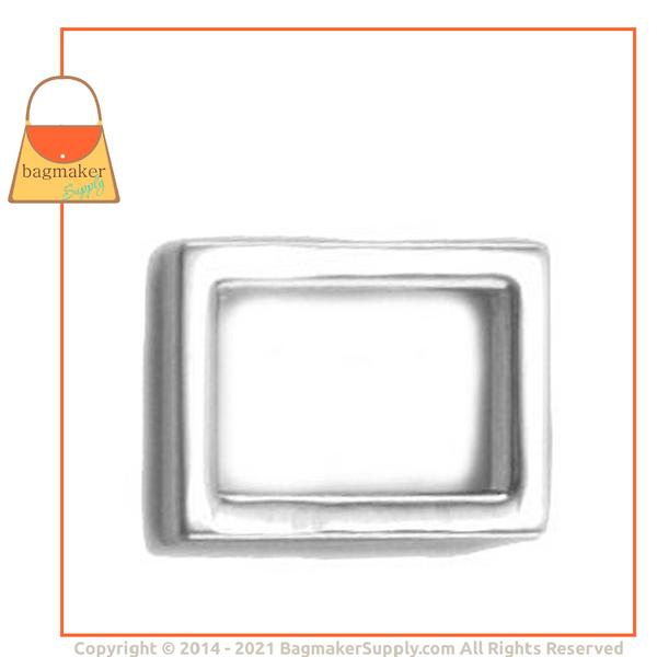 Representative Image of 5/8 Inch Flat Cast Rectangle Ring, Nickel Finish (RNG-AA037))