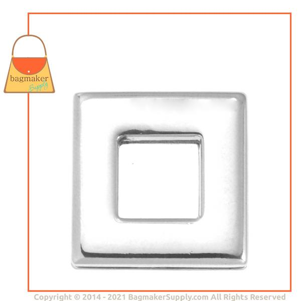 Representative Image of 3/8 Inch Square Screw Back Eyelet, Nickel Finish (EGR-AA014))