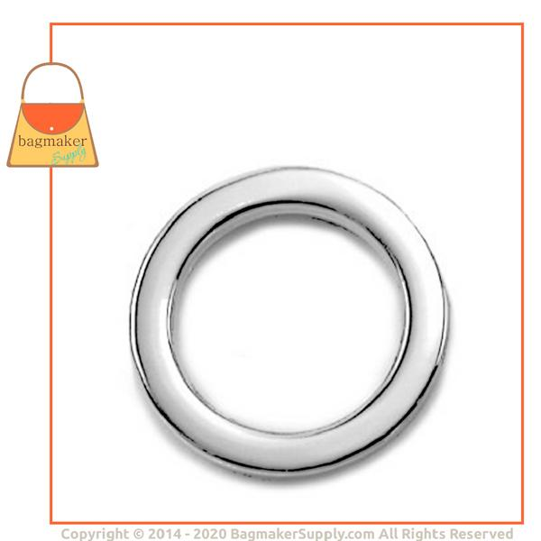 Representative Image of 3/4 Inch Flat Cast O Ring, Nickel Finish (RNG-AA044))