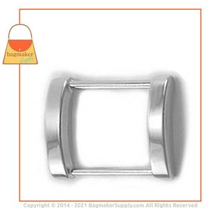 Representative Image of 1 Inch Cast Rectangle Arched Edge Ring, Nickel Finish