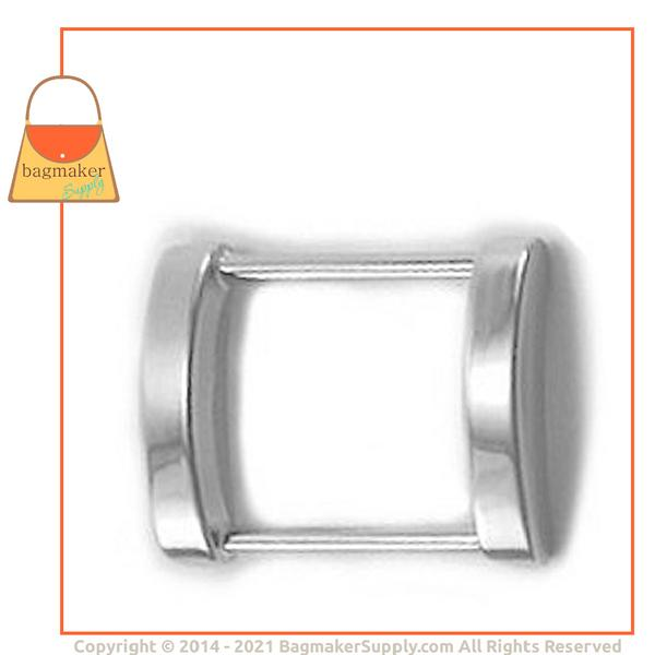Representative Image of 1 Inch Cast Rectangle Arched Edge Ring, Nickel Finish (RNG-AA047))