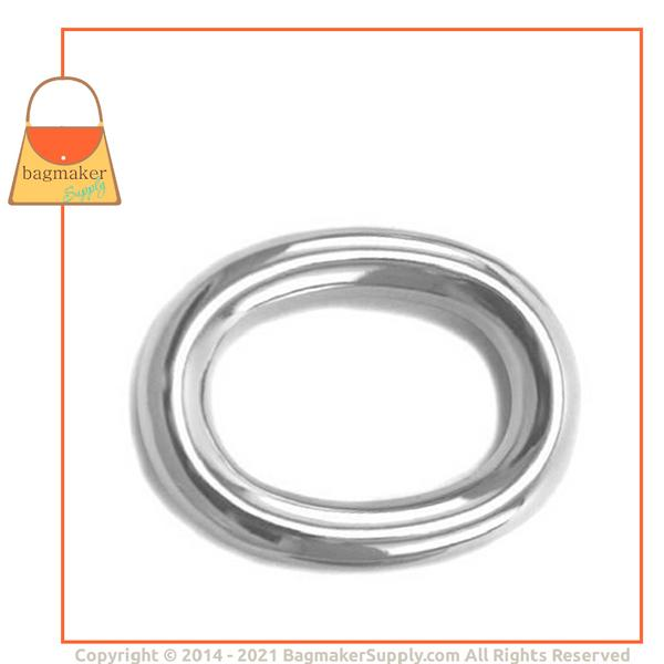 Representative Image of 1 Inch Cast Oval Ring, Nickel Finish (RNG-AA048))