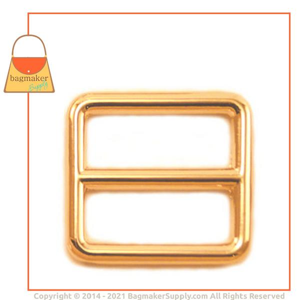 Representative Image of 1 Inch Cast Triglide Center Bar Slide, Gold Finish (SLD-AA016))