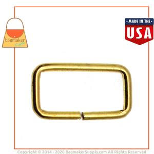 Representative Image of 1 Inch Wire Formed Rectangle Ring, Brass Finish