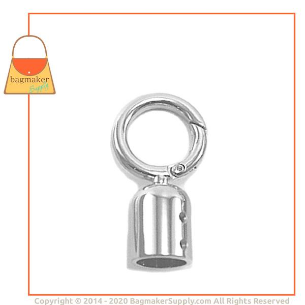Representative Image of 13 mm Cord End Swivel Snap Hook, Nickel Finish (SNP-AA006))