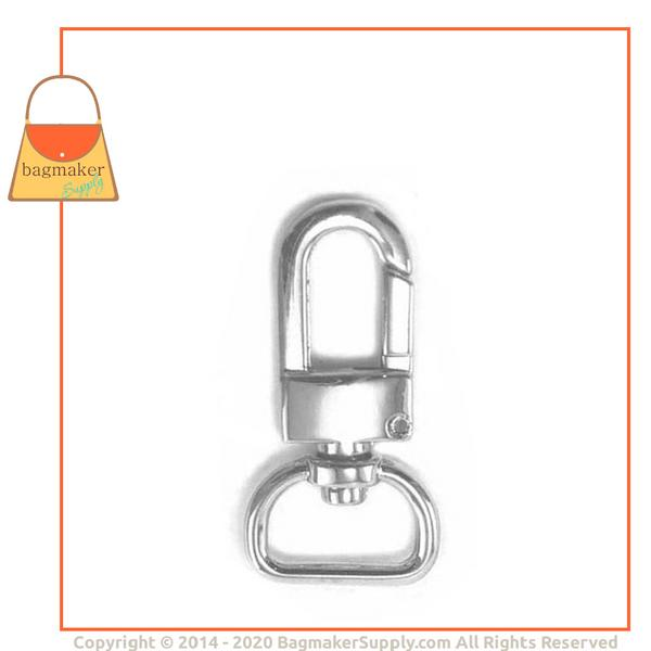 Representative Image of 5/8 Inch Lobster Claw Swivel Snap Hook, Nickel Finish (SNP-AA007))