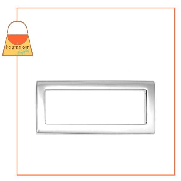 Representative Image of 1-1/2 Inch Flat Cast Convex Rectangle Ring, Nickel Finish (RNG-AA053))