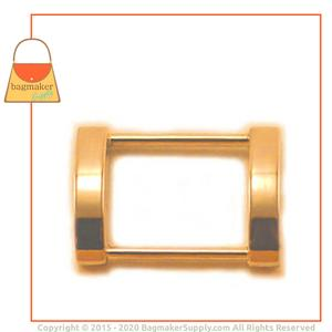 Representative Image of 1 Inch Cast Rectangle Arched Edge Ring, Gold Finish