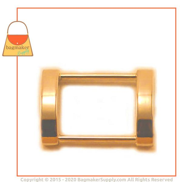 Representative Image of 1 Inch Cast Rectangle Arched Edge Ring, Gold Finish (RNG-AA056))